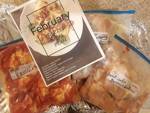 Freezer Meal Plan February