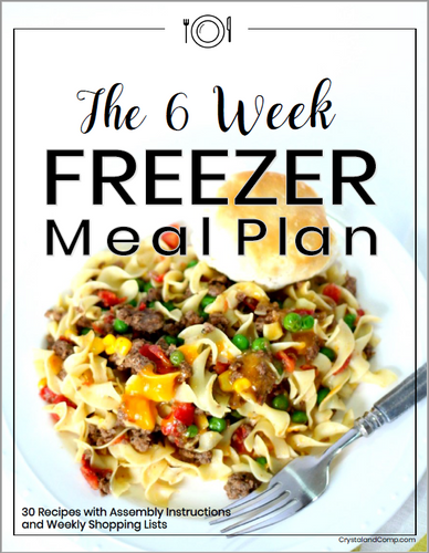 6 Week Freezer Meal Plan