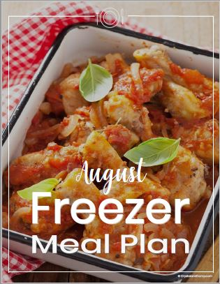 Freezer Meal Plan August