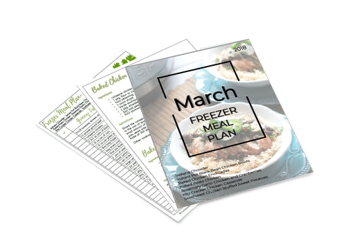 Freezer Meal Plan March