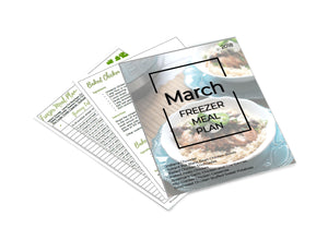 Freezer Meal Plan March 2018