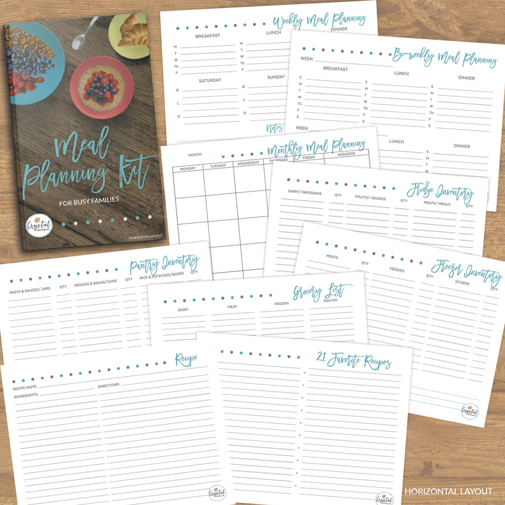 Meal Planning Kit (Horizontal)