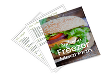 Freezer Meal Plan September