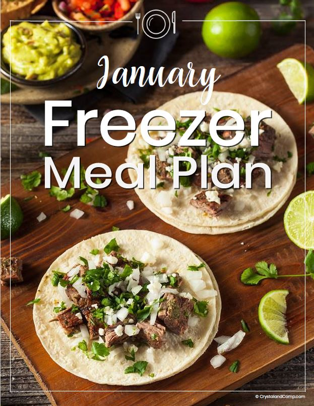 January 2019 Freezer Meal Plan