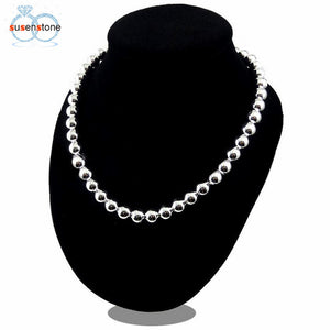 SUSENSTONE New Fashion Hollow Bead Necklace
