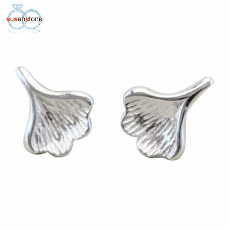 SUSENSTONE Women's Fashion Ear Jewelry Earrings Ginkgo