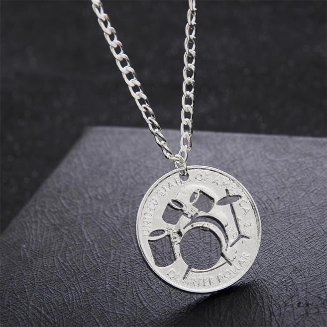 Fashion Alloy Necklace Hollow Drums