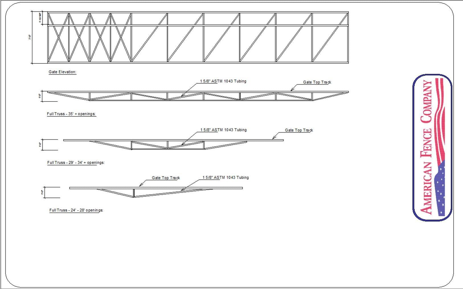Horizontal cantilever gate truss diagram