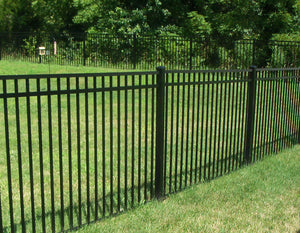 Full Packaged 6' Black Ornamental Aluminum Yard - 250' Yard Size - Customize to Your Yard