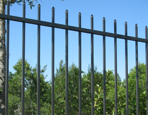 5' x 6' Aluminum Ornamental Spear Top Series B 3-Rail - Standard Picket