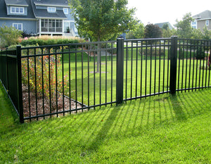 Full Packaged 6' Black Ornamental Aluminum Yard - 187' Yard Size - Customize to Your Yard