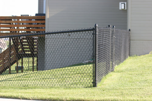 Packaged 5' Black Chain Link Yard - 150' Yard Size- Customize to Your Yard