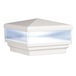 "5"" x 5"" Neptune Scallop Lens Low Voltage LED Light Post Cap (Box of 6)"