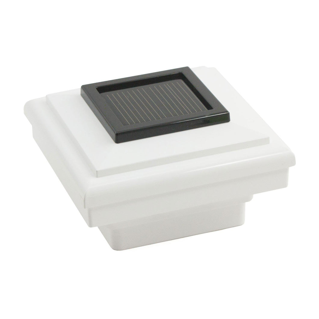 white ornamental solar light cap