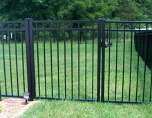 12' Aluminum Ornamental Single Swing Gate - Flat Top Series A - No Arch