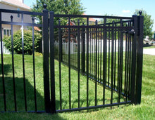 4' Aluminum Ornamental Single Swing Gate - Flat Top Series C - No Arch