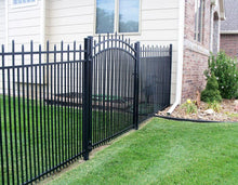 9' Aluminum Ornamental Single Swing Gate - Spear Top Series H - Over Arch