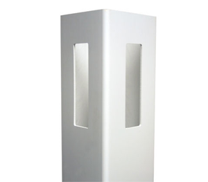 "White 4"" x 4"" x 6' x .115 Routed Corner Post K-15"
