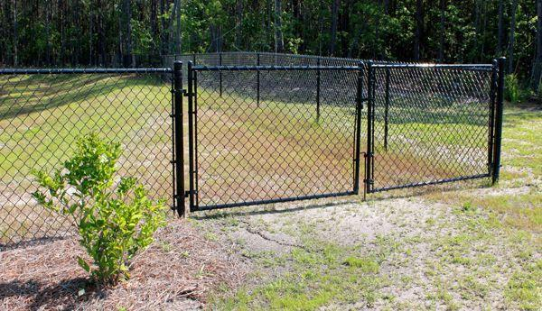 Residential Black Chain Link Double Drive Gate America S