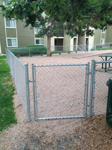 Residential Chain Link Single Swing Gate