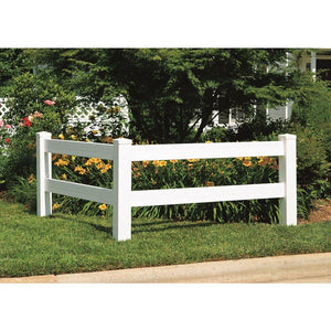 4' x 4' Vinyl Horizontal Fence Corner Accent Panel Kit - White