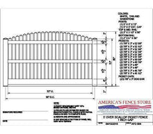 "AFC-004   5' Tall x 8' Wide Overscallop Fence with 5/8"" Air Space"