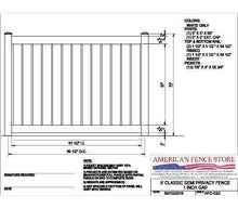 "AFCC62   6' Tall x 8' Wide Semi Private Fence with 1"" Air Space"