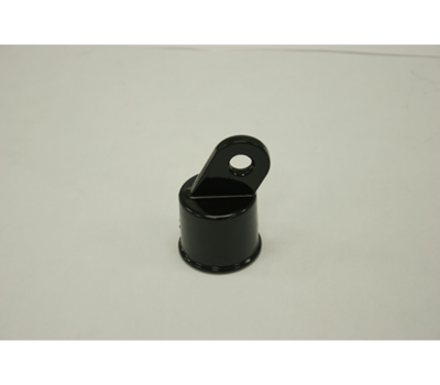"1-3/8"" Black Aluminum Rail End"