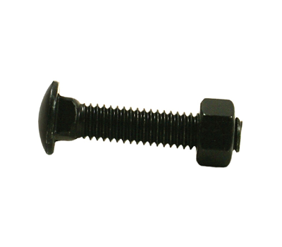 Black Carriage Bolts 3/8
