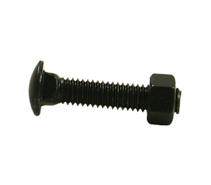"Black Carriage Bolts 3/8"" x 2-1/2"""