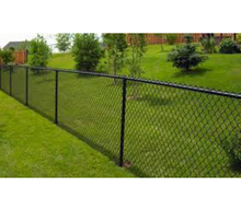 "72"" x 2"" x 8 ga Black Commercial Wire - Knuckle Knuckle"