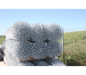 "72"" 9ga KT 2 oz Galvanized Chain Link Fence"