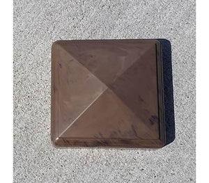 "Chestnut Brown 5"" x 5"" External Long Cap"