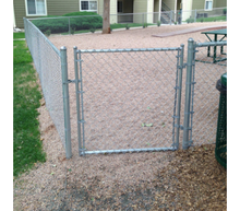 "48"" x 60"" Residential Galvanized Chain Link Gate"