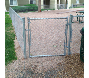 "48"" x 48"" Residential Galvanized Chain Link Gate"