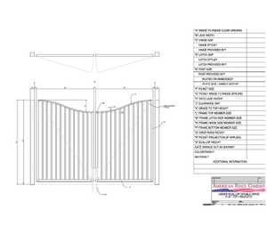 "96"" x 60"" Underscallop Flat Top Double Drive Gate"