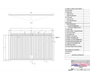 "120"" x 48"" Spear Top Double Drive Gate"