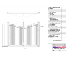 "96"" x 72"" Underscallop Spear Top Double Drive Gate"