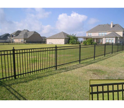Flat Top 8' Wide x 4' High Three Rail Fence Panel