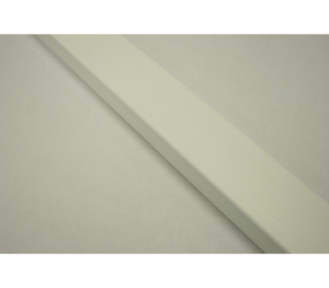 "Ribbed Rail 2"" x 6"" x 16'  White"