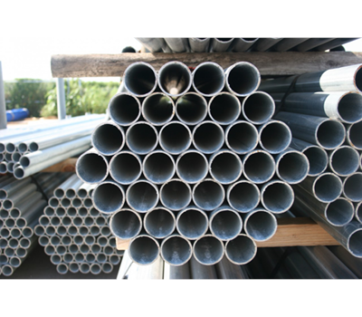 "1-3/8"" x .047 x 21' Swedged End Galvanized Pipe Residential"