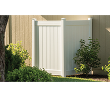 Vinyl Privacy Panel Enclosure - White