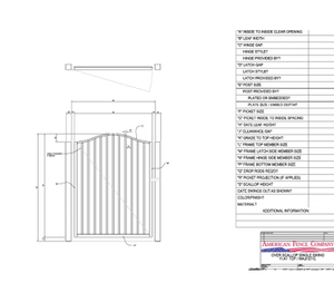 "48"" x 48"" Overscallop Flat Top Single Swing Gate"