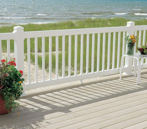"Vinyl Picket Railing Kit 42"" x 72"" - Chestnut Brown"