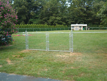 Residential Chain Link Double Drive Gate