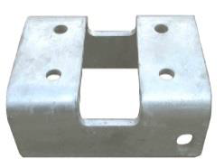 "Truck Bracket 4"" Round Post - Aluminum Slide Gate"