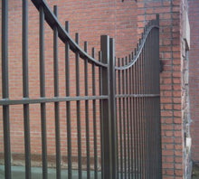 Under Arch Aluminum Double Drive Swing Gate