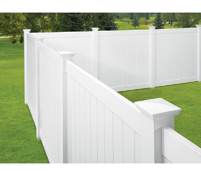 "White 2"" x 6"" x 96"" Ribbed Routed Rail"