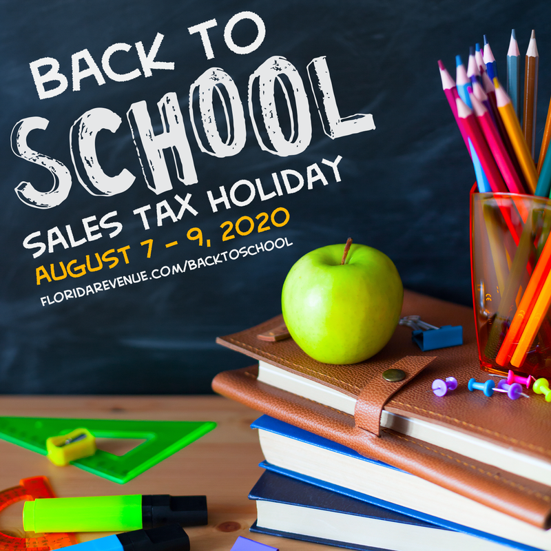 2020 Florida Sales Tax Holiday returns this weekend!