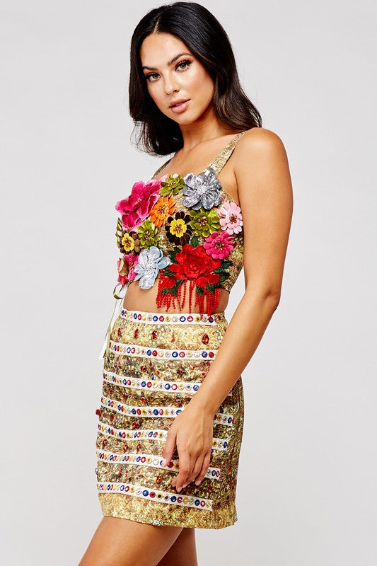 Floral Embroidered Set